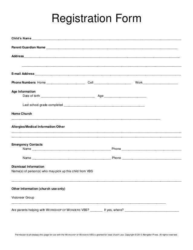 Admission Forms For Schools | Howto.billybullock.us