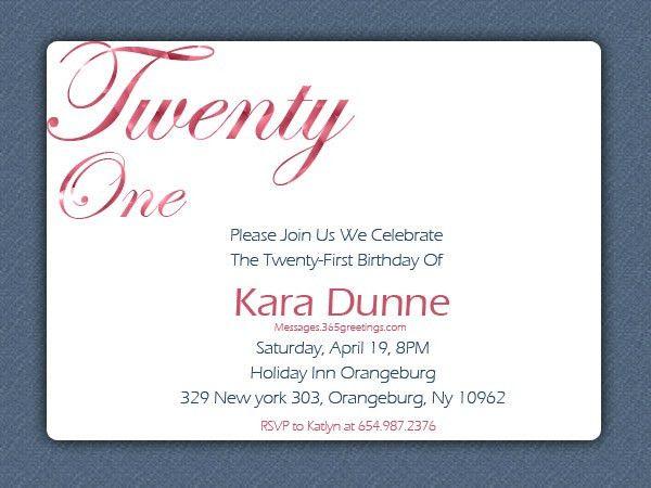 Birthday Invites: Excellent 21 Birthday Invitations Design Ideas ...