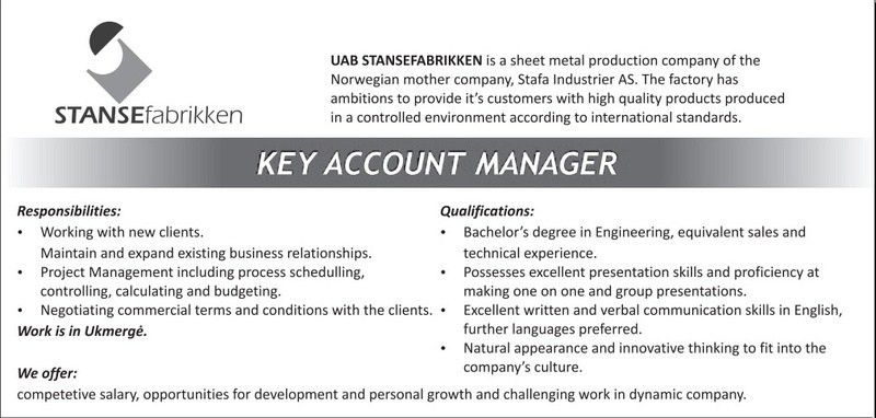 account manager cv template. key account manager cover letter. key ...