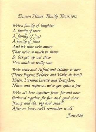 How to Write a Good Family Reunion Invitation Letter | Family ...