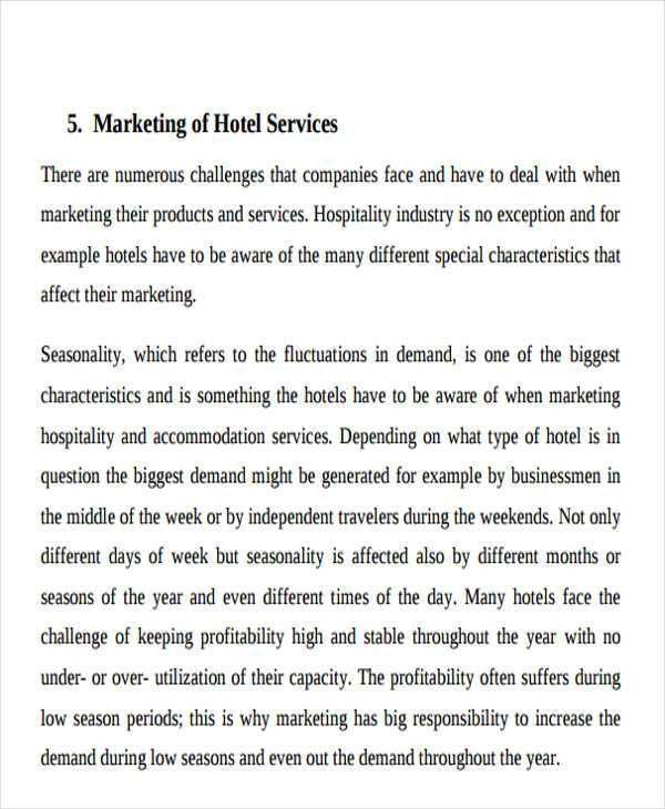 Hotel Sales Plan Templates - 5+ Free Word, PDF Format Download ...