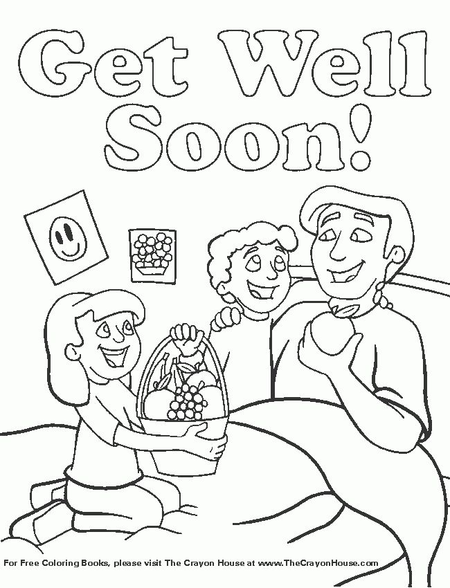 Get Well Coloring Pages For Kids - Coloring Home