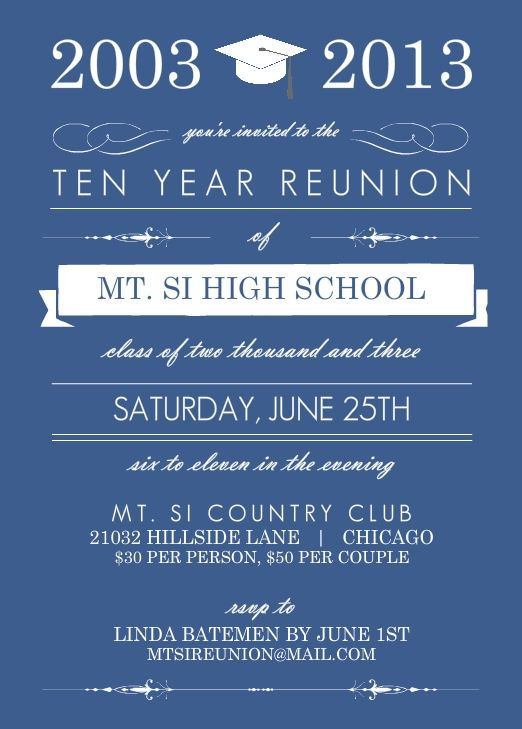 High School Reunion Wording Ideas and Tips
