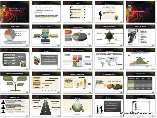 Brilliant Idea PowerPoint Template Set