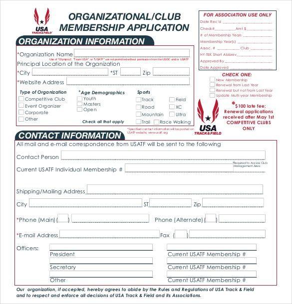 membership templates free
