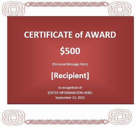 8 Free Sample Prize Voucher Templates – Printable Samples