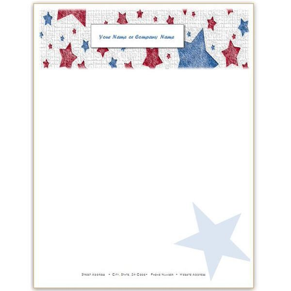 10 Patriotic Templates for MS Word: Perfect for July 4th, Memorial ...