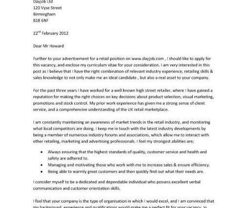 cover letter template retail best s cover letter page retail s ...