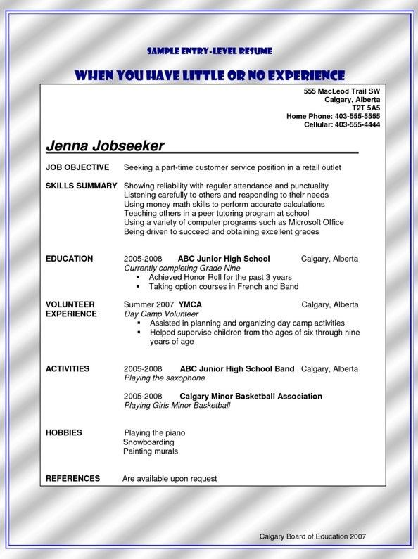 Bank Teller Resume Sample No Experience | Free Resume Templates