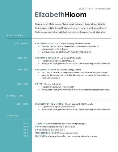 this resume template has the titles left justified with the name ...