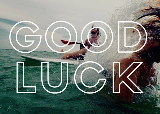 Wipe Out Good Luck Card - Templates by Canva