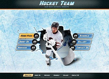 Hockey Team - Easy flash template ID:300111109