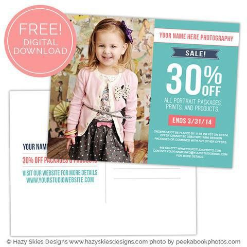 Free Templates Photoshop Templates for Photographers, Photo Card ...