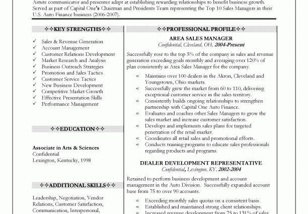 sales manager resume job description - Writing Resume Sample ...