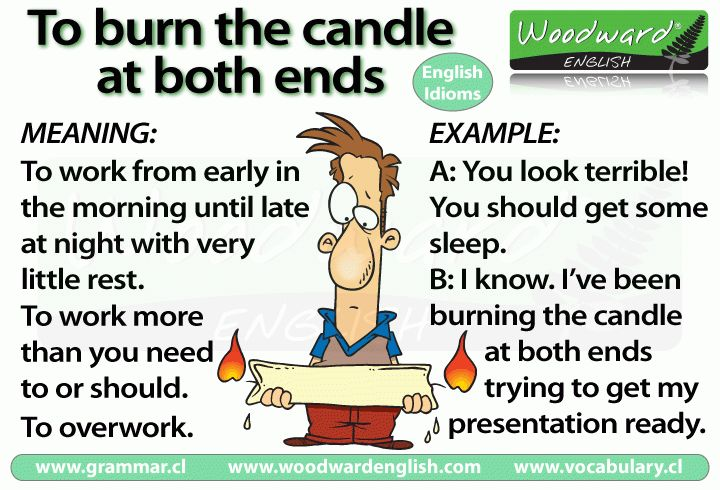 Burning the candle at both ends – meaning | Woodward English