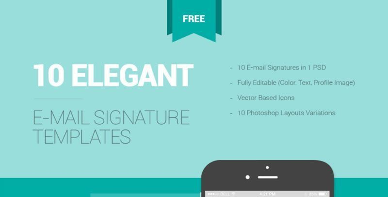 10 Free Email Signature Templates With Awesome Designs -