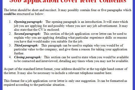 Format Cover Letter For Job Application - [imerbilgisayar.com]
