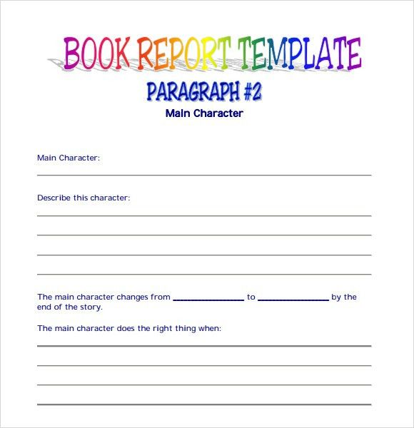 9 Free Book Report Templates - Excel PDF Formats