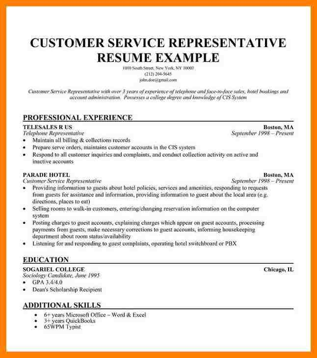 retail customer service skills resume customer service ...