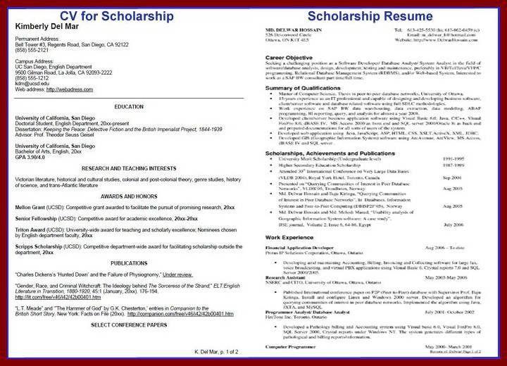 13 Example Scholarship Objectives Letter | sendletters.info