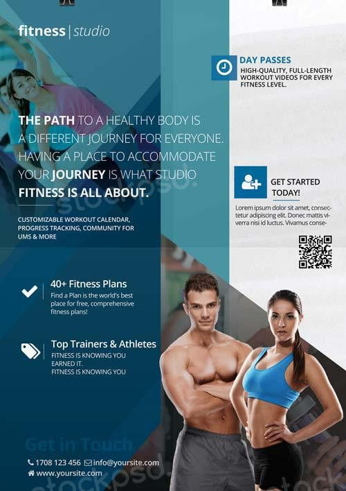 Fitness Studio Free Flyer Template - Download Fitness Flyer for ...