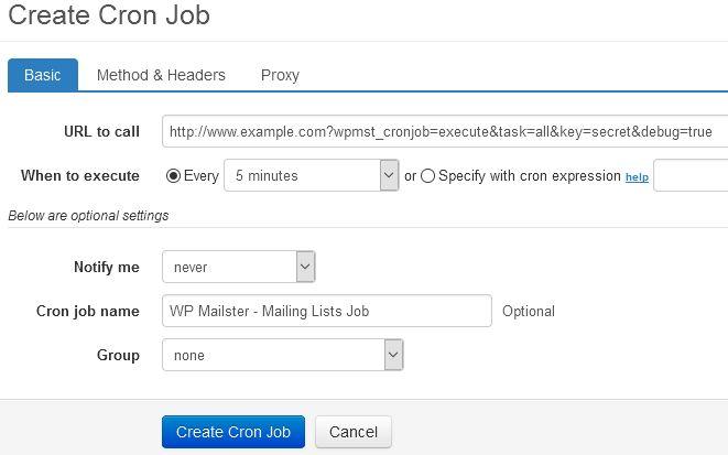 Cron Job Setup – WP Mailster