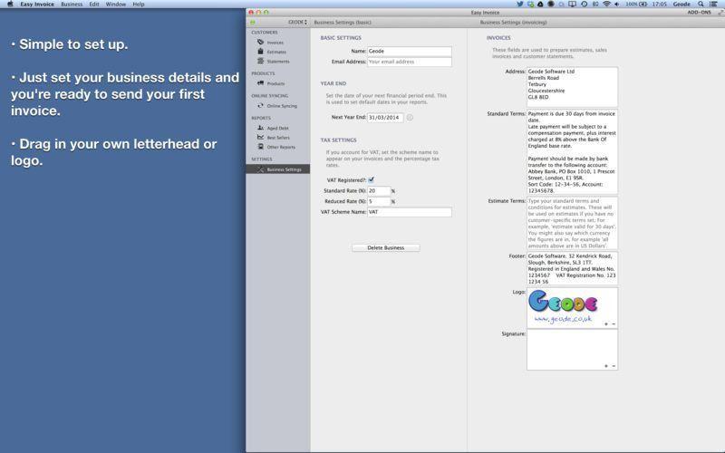 Easy Invoice (PDF generator) on the Mac App Store