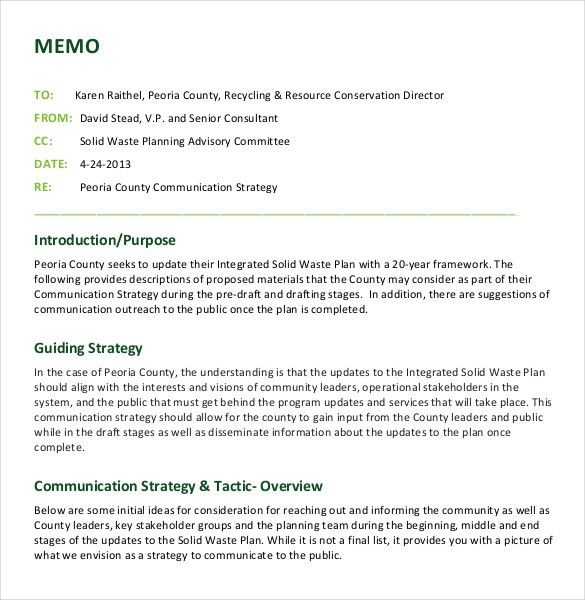 12+ Strategy Memo Templates – Free Sample, Example, Format ...