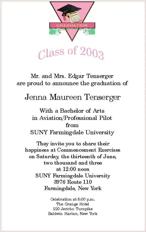 Top Collection Of Graduation Invite Wording You Can Modify ...
