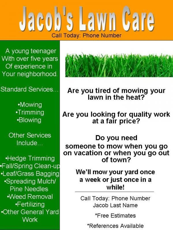 My lawn care flyer, what do you think? | LawnSite