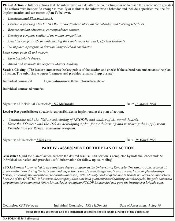 Initial Counseling Statement Template - Best Template Collection