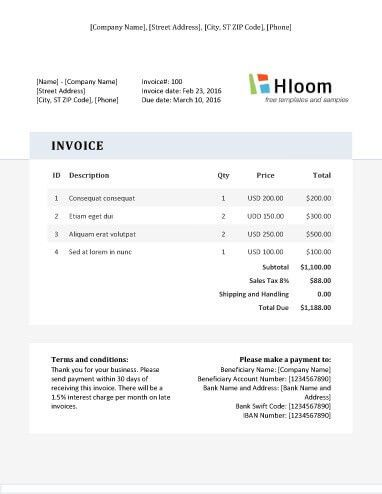 19 Blank Invoice Templates [Microsoft Word]