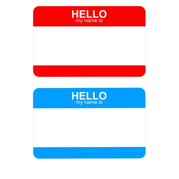 Free Hello My Name Is sticker badge template title= | ART/SMASH ...
