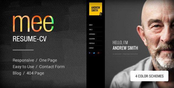 MEE - Responsive Resume / Personal Portfolio by themezaa | ThemeForest