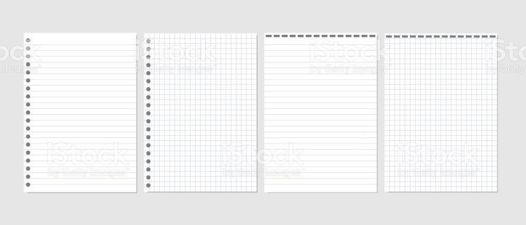 Set Of Realistic Vector Illustration Of Blank Sheets Of Square And ...
