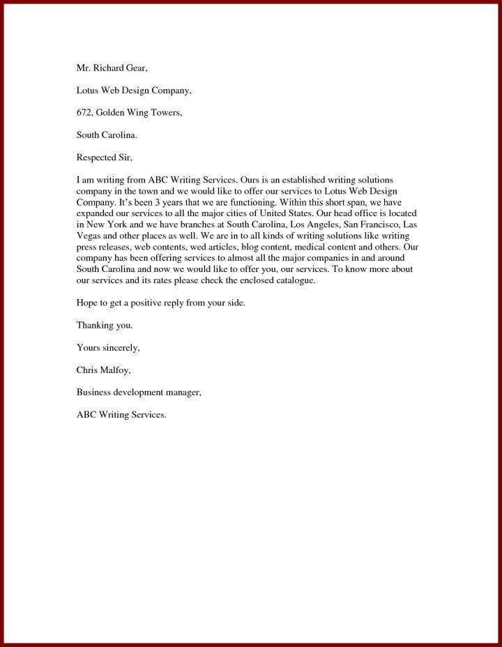 samples of business proposal letters in offering services ...