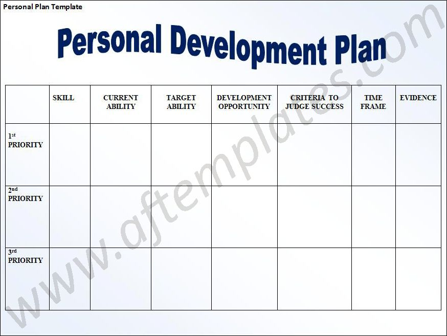 Pdp Templates. example of a personal development plan sample ...