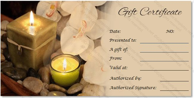 Couples Massage Gift Certificate Template – Gift Ftempo