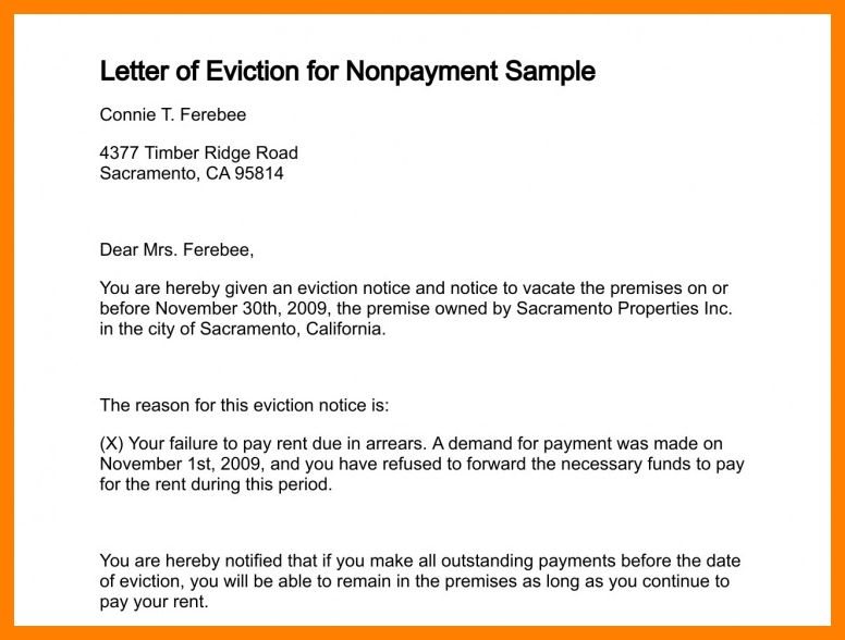 11+ sample eviction notice for nonpayment of rent | handy man resume