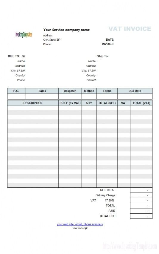 Download Commercial Invoice Template Uk Free | rabitah.net