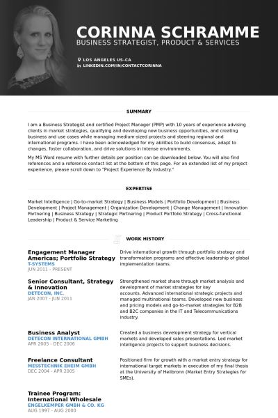 Manager Resume samples - VisualCV resume samples database
