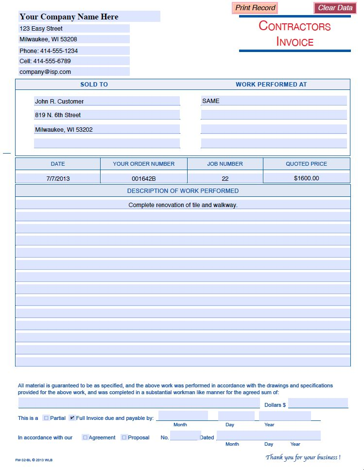 Professional Business Forms | Download Business Forms in Fillable ...
