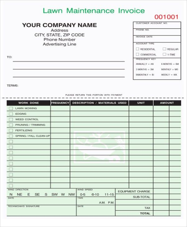 9+ Maintenance Invoice Template - Free Sample, Example Format ...