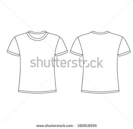 Tshirt Vector: Black Shirt