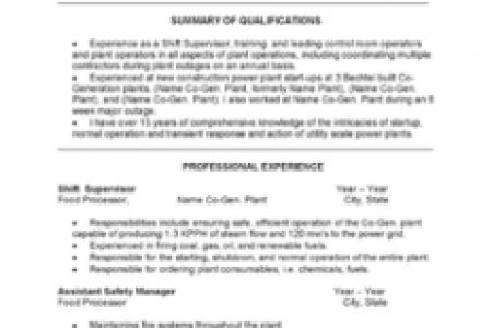 plant operator resume plant operator resume warehouse production ...