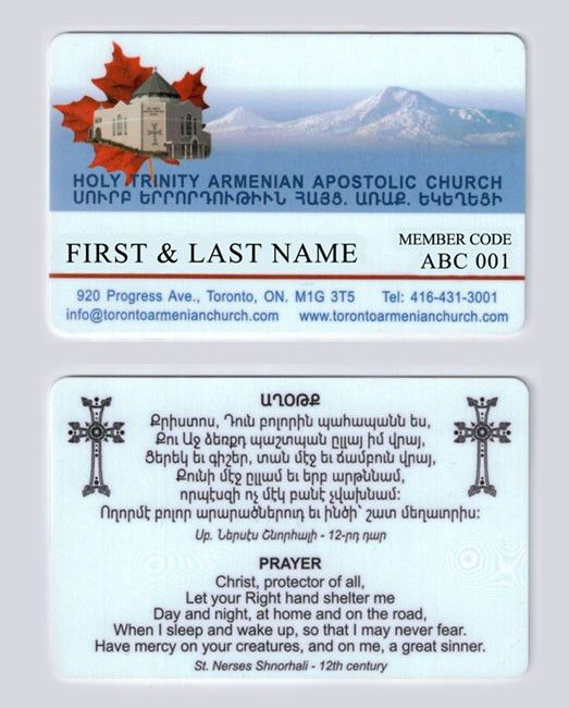 Church Membership - Holy Trinity Armenian Church