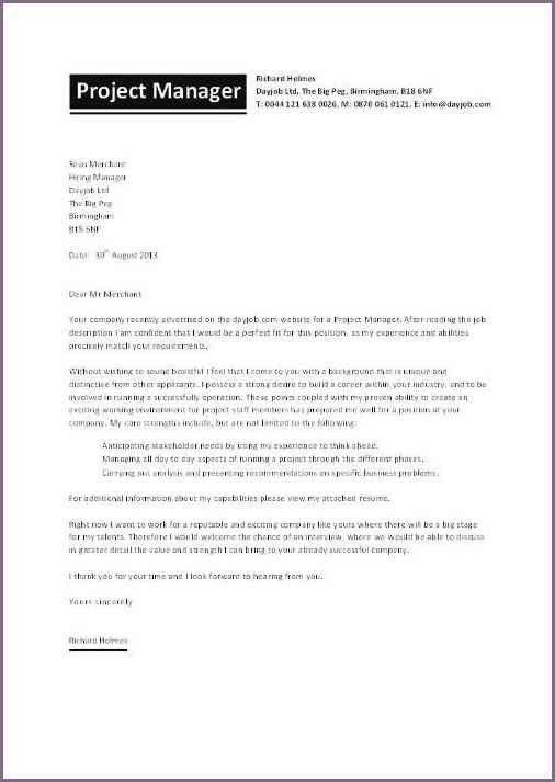 SAMPLE COVER LETTER FOR PROJECT PROPOSAL | proposalsampleletter.com