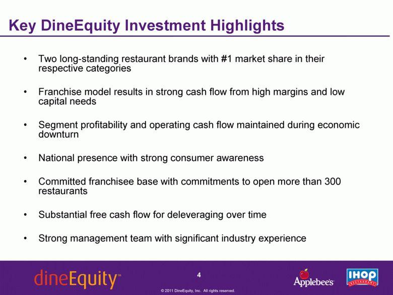 DineEquity, Inc - FORM 8-K - EX-99.1 - September 6, 2011