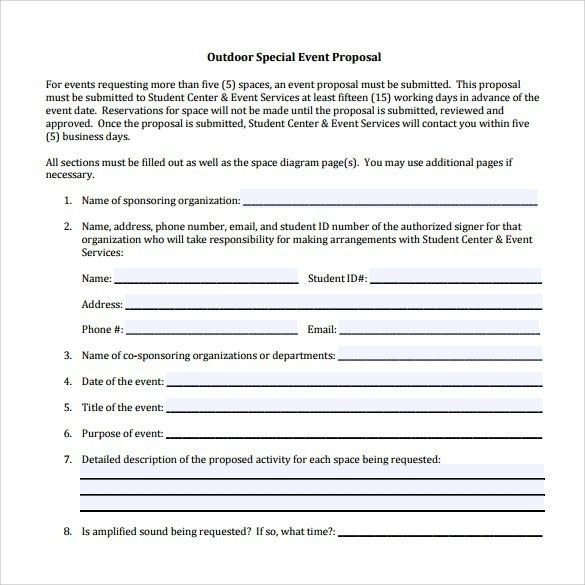 Event Proposal Template Word [Template.billybullock.us ]