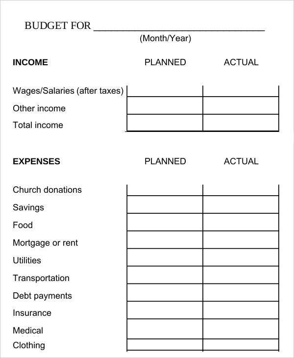 Biweekly Budget Template - 6+ Free Word, PDF Documents Download ...